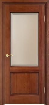 Дверь остеклённая 117 Ш Коньяк патина