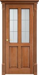 Дверь остеклённая 15 Ш Орех 10% патина