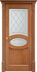 Дверь остеклённая 26 Ш Багет 10% Орех