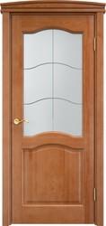 Дверь остеклённая 7 Ш Орех 10%