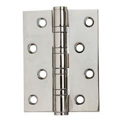 Петли дверные универсальные A010-C 100X70X3-4BB-1HH белый никель; без короны