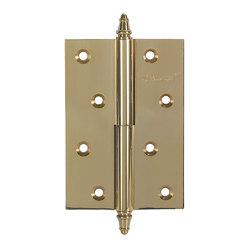 Петли дверные разъемные, левые/правые A010-D 100X70X3-224 L золото; с короной