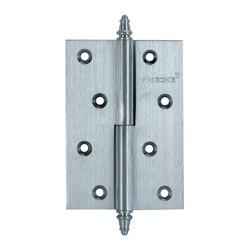 Петли дверные разъемные, левые/правые A010-D 100X70X3-232 L матовый хром; с короной