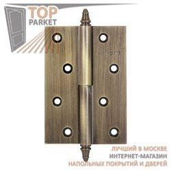 Петли дверные разъемные, левые/правые A010-D 100X70X3-2B L античная бронза; с короной