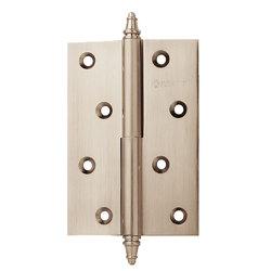 Петли дверные разъемные, левые/правые A010-D 100X70X3-2H L белый никель; с короной