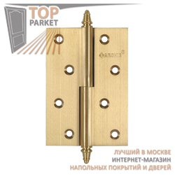 Петли дверные разъемные, левые/правые A010-D 100X70X3-2U L матовая латунь; с короной