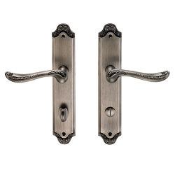 Ручка дверная на пластине Acanto Черненое серебро