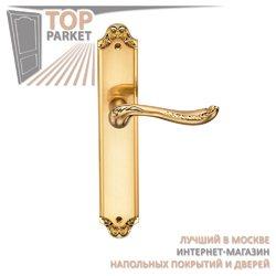 Ручка дверная на пластине Acanto Матовое золото
