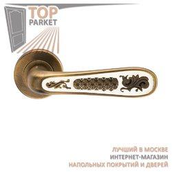 Ручка дверная на пластине Alivio Античный кофе/эмаль