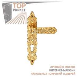 Ручка дверная на пластине Arabesco Матовое золото
