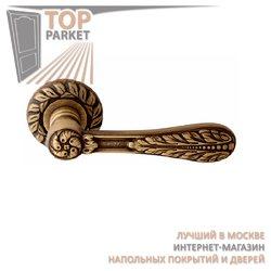 Ручка дверная на розетке Agata Матовая бронза