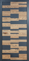 Дверь Мадера Alveola натуральный дуб+графит