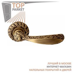 Ручка дверная на розетке Ambra Матовая бронза
