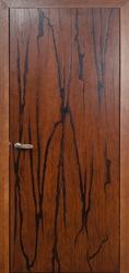 Межкомнатная дверь Мадера Art коньяк черная патина