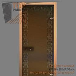 Стеклянная дверь Bella Cosa Хамам бронза матовое