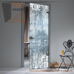 Стеклянная дверь Bella Cosa Граффити
