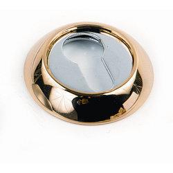 Накладка круглая под евроцилиндр CL 2 золото