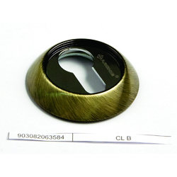 Накладка круглая под евроцилиндр CL H белый никель