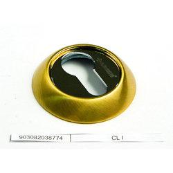 Накладка круглая под евроцилиндр CL ACF античный кофе