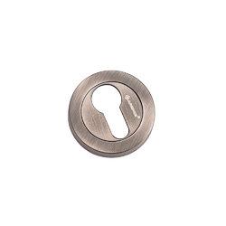 Накладки на евроцилиндр CL-20G BL. SILVER черненое серебро
