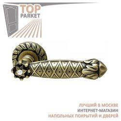 Ручка дверная на розетке Crystal Матовая бронза + S