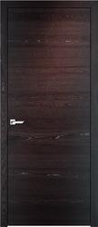 Межкомнатная дверь Итальянская легенда Hi-Tech Дуб Д66 Мореный дуб + патина серебро