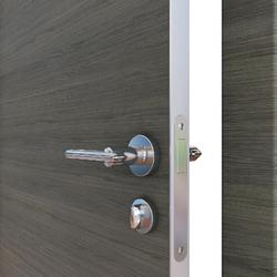 Межкомнатная дверь Дверная Линия ДГ-500 Ольха тёмная