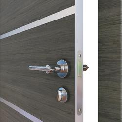 Межкомнатная дверь Дверная Линия ДГ-505 Ольха темная