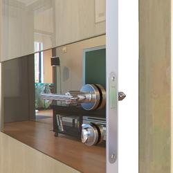 Межкомнатная дверь Дверная Линия ДО-501 Анегри светлый зеркало бронза