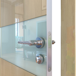 Межкомнатная дверь Дверная Линия ДО-501 Анегри светлый стекло белое матовое