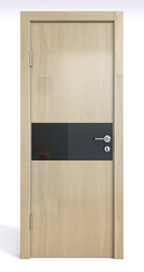 Межкомнатная дверь Дверная Линия ДО-501 Анегри светлый стекло чёрное