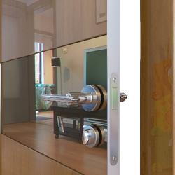 Межкомнатная дверь Дверная Линия ДО-501 Анегри тёмный зеркало бронза