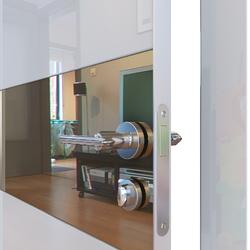 Межкомнатная дверь Дверная Линия ДО-501 Белый глянец зеркало бронза