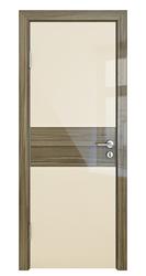 Межкомнатная дверь Дверная Линия ДО 501 Ваниль глянец стекло сосна