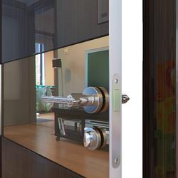 Межкомнатная дверь Дверная Линия ДО-501 Венге глянец зеркало бронза