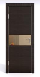 Межкомнатная дверь Дверная Линия ДО 501  Венге горизонтальный, зеркало бронза