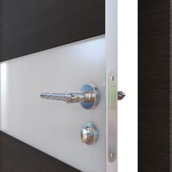 Межкомнатная дверь Дверная Линия ДО 501  Венге горизонтальный, стекло белое