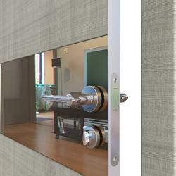 Межкомнатная дверь Дверная Линия ДО 501  Дуб серый, зеркало бронза