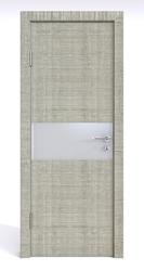 Межкомнатная дверь Дверная Линия ДО 501  Дуб серый,стекло белое матовое