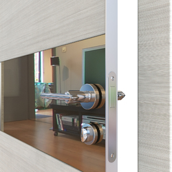 Межкомнатная дверь Дверная Линия ДО 501  Ива светлая, зеркало бронза