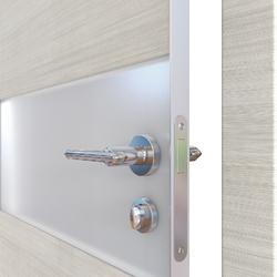 Межкомнатная дверь Дверная Линия ДО 501  Ива светлая,стекло белое матовое