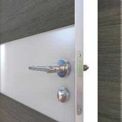 Межкомнатная дверь Дверная Линия ДО 501 Ольха темная, стекло белое матовое