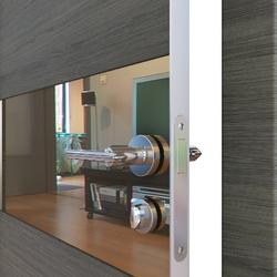 Межкомнатная дверь Дверная Линия ДО 501 Ольха темная, зеркало бронза