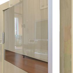 Межкомнатная дверь Дверная Линия ДО-502 Анегри светлый зеркало бронза