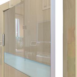 Межкомнатная дверь Дверная Линия ДО-502 Анегри светлый стекло белое матовое