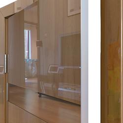 Межкомнатная дверь Дверная Линия ДО-502 Анегри тёмный зеркало бронза