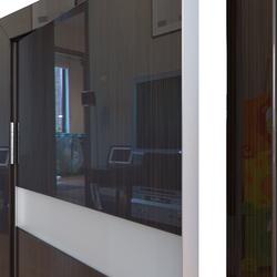 Межкомнатная дверь Дверная Линия ДО-502 Венге глянец стекло белое матовое (снег)