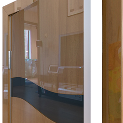 Межкомнатная дверь Дверная Линия ДО-503 Анегри темный стекло чёрное