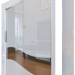 Межкомнатная дверь Дверная Линия ДО-503 Белый глянец зеркало бронза