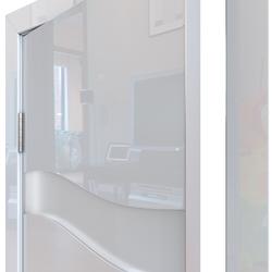Межкомнатная дверь Дверная Линия ДО-503 Белый глянец стекло белое матовое (снег)